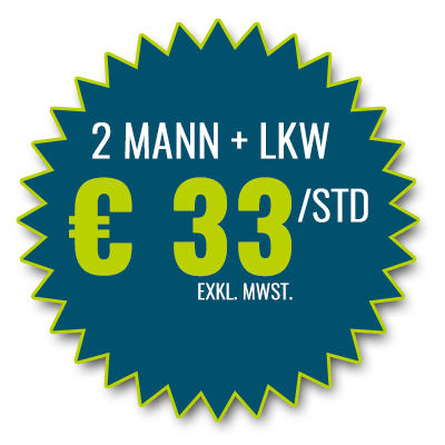 2 Mann + LKW